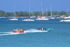 Water sports in St Lucia, Caribbean Royalty Free Stock Photos