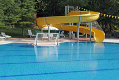 Water sports in swimming pool Royalty Free Stock Images