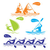 Water sports symbol design Stock Photos