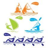 Water sports symbol design Stock Photos