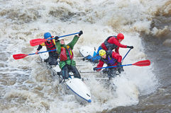 Water sportsmen in threshold Royalty Free Stock Photos