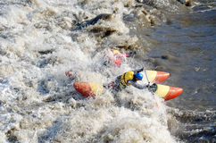 Water sportsmen in threshold Royalty Free Stock Photography