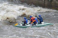 Water sportsmen in threshold Stock Photography