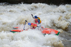 Water sportsmen in threshold Stock Images