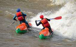 Water sportsmen in threshold Royalty Free Stock Image