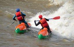 Water sportsmen in threshold Royalty Free Stock Image