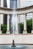 Water Spout in Chicago Fountain. Sculpture and Fountain in Chicago Park royalty free stock image