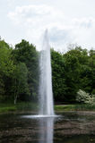 Water Spout in a Pond. A Water Spout in a small scenic pond on historical Boscobel in Garrison, NY Stock Images