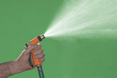 Water Spray. From garden hose attachment Stock Photography