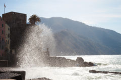 Water spray - Camogli Stock Photography