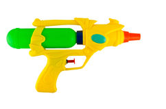 Water spray gun. For playing and watering to each other in hot season isolate on white royalty free stock photography