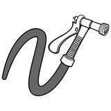 Water Spray Gun with Hose Illustration. A vector illustration of a Water Spray Gun with Hose Stock Image