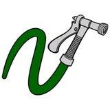 Water Spray Gun with Hose. A vector illustration of a Water Spray Gun with Hose Royalty Free Stock Photos