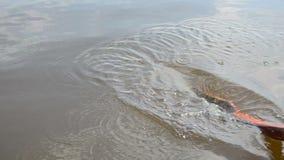 Water spray lake stock video footage