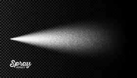 Water spray mist effect on transparent background. Vector illustration Stock Image