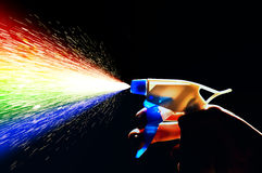 Water spray rainbow Stock Photography