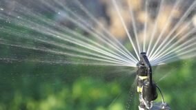 Water spray system - close up stock footage