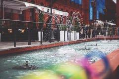 Water spraying Stock Photos