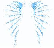 Water sprays in the form of angel wings Stock Photography