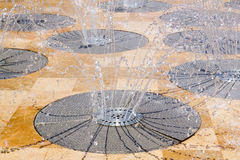 Water spring source from stainless steel Royalty Free Stock Photos