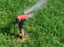Water sprinkler 5. Garden lawn water sprinkler 5 Stock Photography