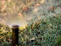 Water sprinkler Stock Images