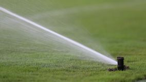 Water Sprinkler stock footage