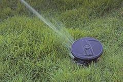Water sprinkler spraying water Stock Image