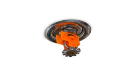 Water sprinkler on the top of ceiling Stock Photo