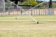 Water sprinklers Royalty Free Stock Photo