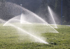 Water Sprinklers - RAW Format Royalty Free Stock Photo