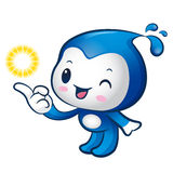 Water sprite mascot the direction of pointing. Nature Character Stock Photo