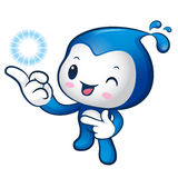 Water sprite mascot the direction of pointing. Nature Character Royalty Free Stock Photos