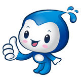 Water sprite Mascot the hand best gesture. Nature Character Desi Stock Photos