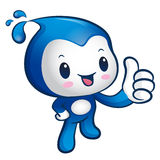 Water sprite Mascot the hand best gesture. Nature Character Desi Royalty Free Stock Photos