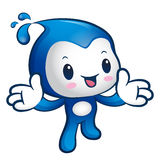 The Water sprite mascot has been welcomed with both hands. Natur Stock Images