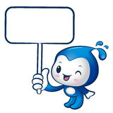The Water sprite mascot holding a board. Nature Character Design Stock Photo