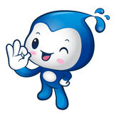 Water sprite Mascot the OK gesture. Home and Family Character De Royalty Free Stock Images