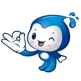 Water sprite Mascot the OK gesture. Home and Family Character De Stock Images