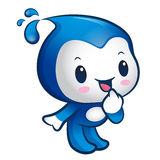 Water sprite Mascot is a polite greeting. Nature Character Desig Royalty Free Stock Image