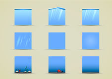 Water sprites for creating video game. Set of water sprites for creating video game Stock Image
