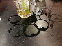 Water stain on marble background stock image