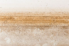 Water stain pattern after flood Royalty Free Stock Photo