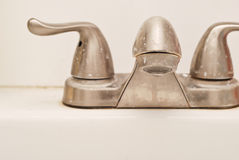 Water Stained Faucet Stock Photo