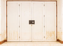 Water stains on the doors and walls after  flood. Royalty Free Stock Images