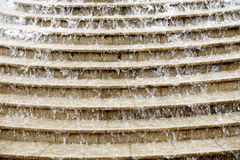 Water stairs. Water rushing down a flight of granite steps Stock Photos