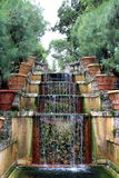 Water Stairway in  Vizcaya. Water Stairway in the  garden of Vizcaya Museum in Miami, FL Royalty Free Stock Photos