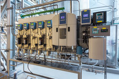 Water and steam quality control unit Stock Photos