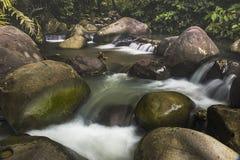 Water step. In Kulonprogo river royalty free stock photo