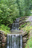 Water steps. A stepped waterfall stock photography